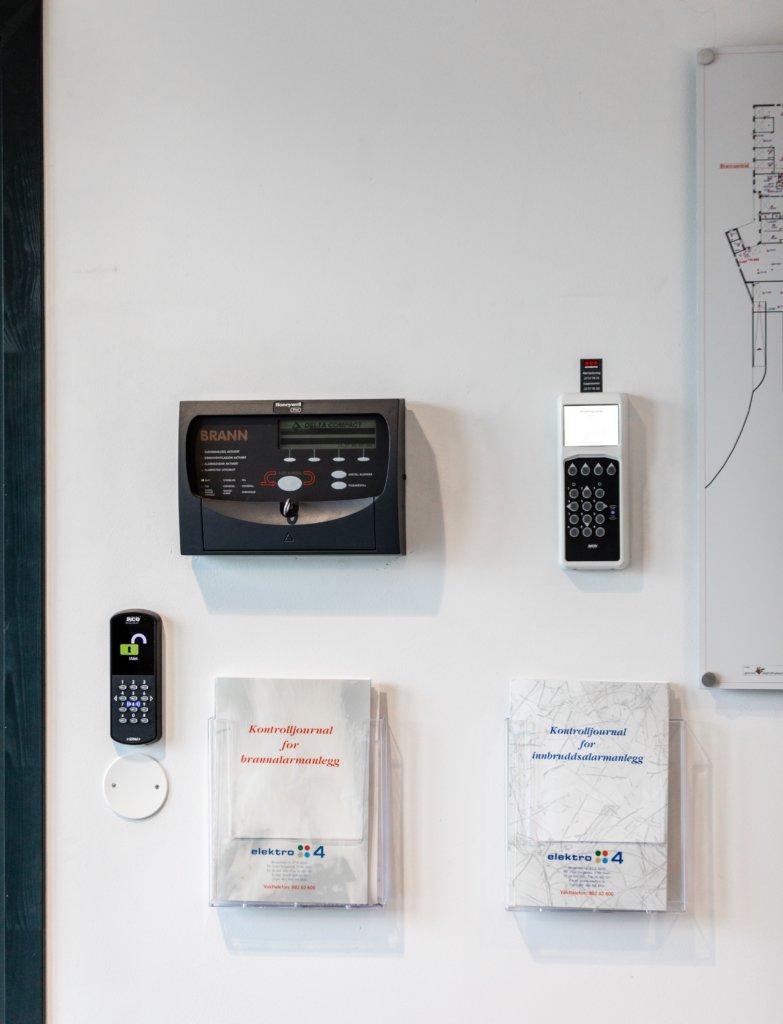 Brannpanel og adgangskontroll